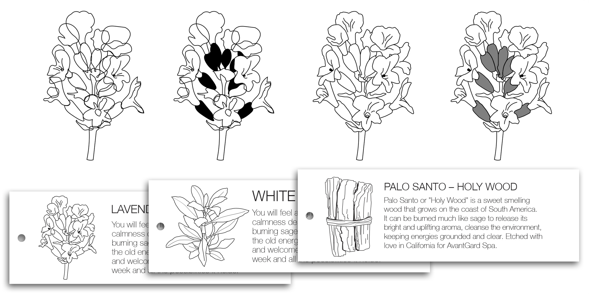 Illustrations for product tags